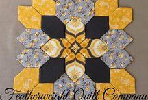 elongated hexagon patterns
