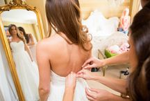 Putting on the wedding Dress / Putting on the wedding dress