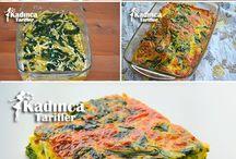 Ispanaklı fırında omlet