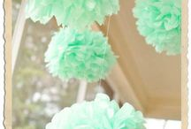 Baby Shower Mint & White