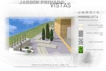 Jardín privado en Madrid / Propuesta de diseño de jardín privado en vivienda unifamiliar en la sierra madrileña.  El cliente pretendía múltiples usos para sus zonas exteriores, lo que nos hizo aprovechar divisiones permanentes.