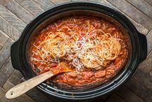 slow cooker spaghetti dinner