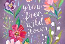 Wildflower quotes / We love pretty quotes that mention wildflowers!