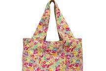 sacs cabas tissu / Sacs et cabas en coton, coton ciré et suédine, pliables, lavables et fabriqués en France