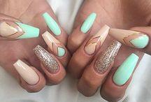 Mint Green Nails Ideas/ Miętowe paznokcie hybrydowe