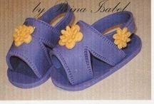 Moldes Sapatinhos bebê / Moldes, dicas e inspiração de sapatinhos de bebê feitos de tecidos, feltros ou crochet