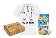 Pintaseta / Camisetas de niño con rotuladores para que las pinten a su manera