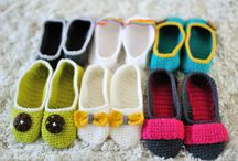 crochet - slipper & accessory