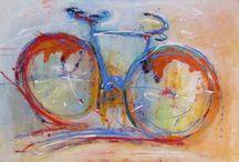 Bicicletas - bikes - Fahrräder / Cuadros de técnica mixta con el tema bicicletas. Mixed media paintings with the subject of bicicles. Bilder mit Mischtechnik, mit dem Motiv: Fahrräder.