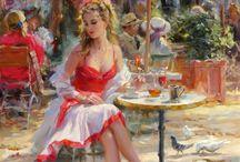 Picturi femei expresive