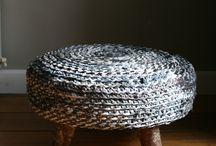 """Voddenpoefje """"vijftige tinten grijs"""" / Kijk voor meer creaties op http://marionstam.wixsite.com/marionmaakt/webshop"""
