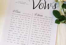 Vow Writing / Inspiration and resources on writing vows that wow