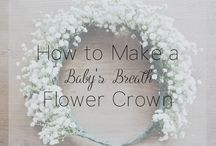 babys breath flower crown