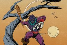 HE-MAN / Posters, illustrations, screen captures from He-Man
