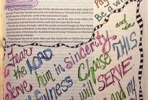 Bibel journal / Kreativ tid med Gud.