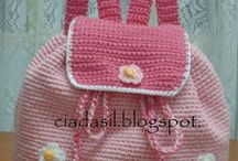crochet, knitted bag
