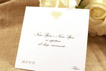 Inviti con cartoncini Lisci bianchi e avorio / Invito su cartoncino singolo da inserire nella partecipazione coordinata. #tipidea #wedding #WeddingInvitation #WeddingKit #Matrimonio #InvitiMatrimonio