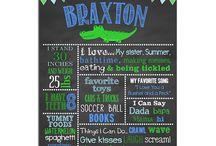 Preppy Alligator Birthday / Chalkboard Preppy Alligator Party Theme Preppy Alligator Birthday Party Alligator party theme