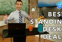 Studio Designs Height Adjustable Tables and Carts / Sit to Stand Workstations- Standing while you work promotes better posture and reduced back and neck pain.  #StudioDesigns
