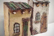 drewniane domki dekracje