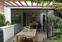 Open terrace decor