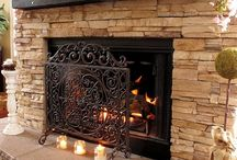 Stacked Stone Fireplaces / by Valerie Brown