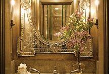 Elegant boudoir/bathroom