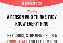 English Idioms-Slang-Phrasal verbs