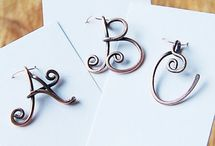 Lettered jewellery