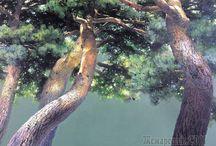 나무 집 풍경