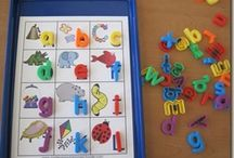 School // Literacy Centers / Ideas for independent practice of ABCs, sight words, blends, and more.  / by Molly Ortner