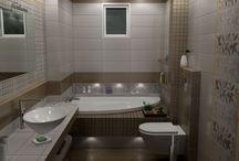 collection Joy Marron / Σχέδια μπάνιου βασισμένα στα πλακάκια από την σειρά Joy Marron 20 x50 cm.