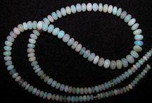 Opal Gemstone Bead Strings / Ethiopian, Australian and Mexican Opal Gemstone Beads String Necklaces
