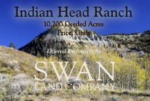 Indian Head Ranch - A Utah Ranch for Sale / http://www.swanlandco.com/properties/indian-head-ranch Operated as an individual Cooperative Wildlife Management Hunting Unit for deer and elk, these 10,200 acres, plus 5,500 acres of BLM and State Land, offer an ideal habitat for big game. Multiple springs, and the 12-acre reservoir and numerous stock ponds provide plentiful water sources for wildlife and livestock. During the summer months, the Ranch pastures 400 to 500 cow-calf pairs on the productive pastures.