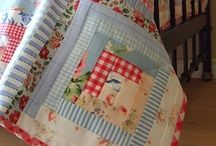 log cabin & housetop quilt