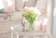 Pastel colours living room