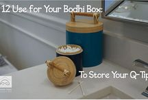 Storage Containers Made of Bamboo / Beautiful Spun Bamboo Containers help to stay organized