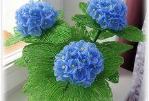 Бисер(цветы,деревья)