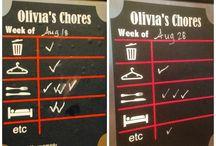 Chore and behavior charts / by Jennifer Bartholomew