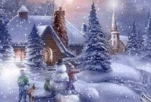 vánoční a zimní pohledy