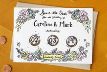 Our Wedding Stationary & Gifts / Illustrated wedding invitations, customized cards, and customized gifts / by Ready Maker Design