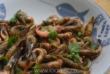 Crevettes & gambas / shrimp prawn - crevette - gambas - recette - recipe