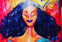 """Thy Queendom Come"" / Be Divine! art by Myesha Francis from whenthespiritspeaks.com"