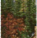 Haft krzyżykowy - Krajobrazy