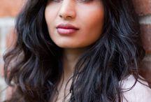Sabatina James / gorgeous black hair