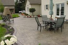Sav House: Stamped Concrete & Grill Area