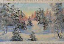 Картины Зимний пейзаж / Картины Зимний пейзаж