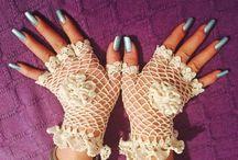 guantes de ganchillos