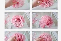 papieren bloem