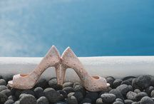 A 'she sells sea shells on the seashore' themed Santorini wedding / Beautiful photos taken from Carly and James' wedding day. The couple tied the knot on the 21st of August 2015 at the gorgeous Dana Villas If you haven't already read all about their special day here http://www.thebridalconsultants.com/real-santorini-wedding-carly-and-james-2015/